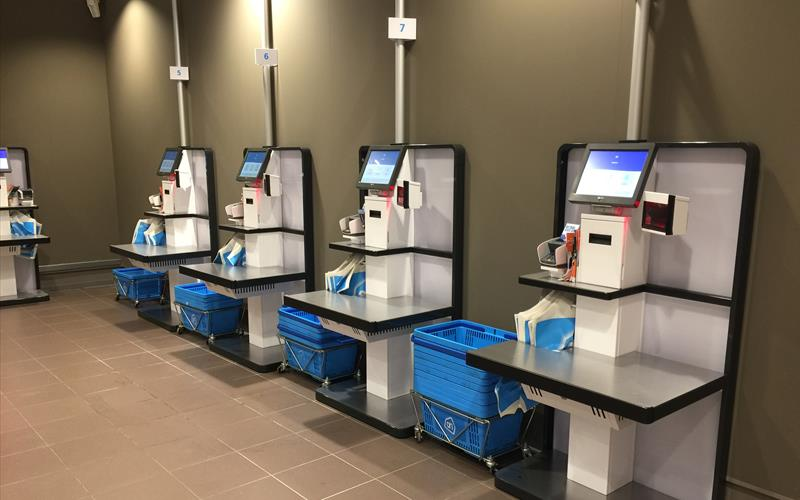 Self Service checkout kiosk